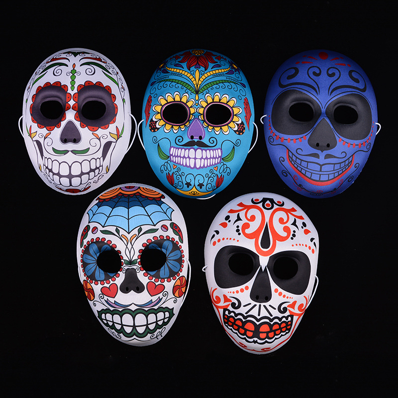 Mexican Day of the Dead Skull Face Mask Holiday Cool Beauty Face Tattoo Hot Masks for Makeup party Halloween