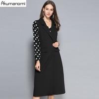 Autumn Long Vests Women Clothing Turn down Collar Pocket Button Cacual Spring Dress Coats Plus Size 5xL 4XL 3xl 2xl Xl L M