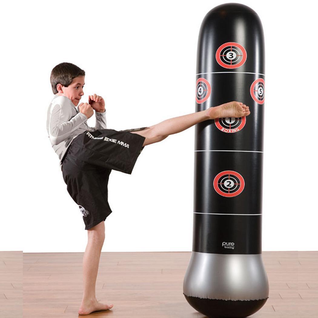 Children Kick Training Punching Bag Inflatable Boxing Column Tumbler Sandbag