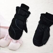 Детские зимние теплые перчатки для мальчиков и девочек, лыжный сноуборд, ветрозащитные/Водонепроницаемые Детские аксессуары, рождественский подарок
