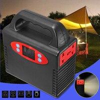 Открытый 100 Вт портативный солнечный генератор источник питания с инвертором аварийная батарея источник питания генератор мощность станци