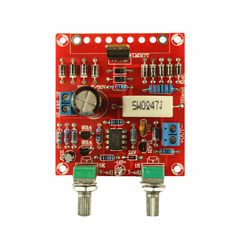 0-30V 0-1A LM317 Adjustable Voltage Current Power Supply Kit DIY Short  Circuit Current Limiting Protection Set for Laboratory