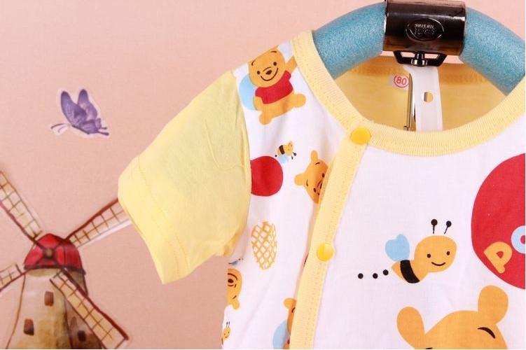 новинка 2017 года одежда для новорожденных 100% хлопок мультфильм ребенка ползунки короткий рукав песочники для маленьких мальчиков девочек летняя одежда оптовая и розничная продажа