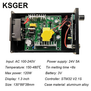 Image 5 - KSGER OLED Soldering Station T12 ILS Electronic Iron Tools STM32 2.1S Temperature Controller Handle Stand Holder 220V Welding