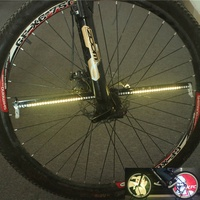128 RGB LEDs Water Resistant Anti shock Spoke Light Color Changing Programmable Bike Bicycle Wheel Light