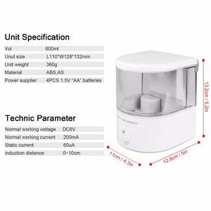 Image 3 - Batterij Aangedreven 600 Ml Wall Mount Automatische Ir Sensor Zeep Dispenser Touch Free Keuken Zeep Lotion Pomp Voor keuken Badkamer