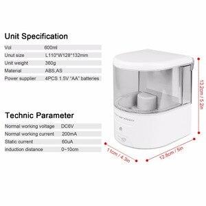 Image 3 - Dispensador de jabón automático con Sensor IR de montaje en pared, sin contacto, surtidor de loción y jabón para cocina y baño, con batería de 600ml
