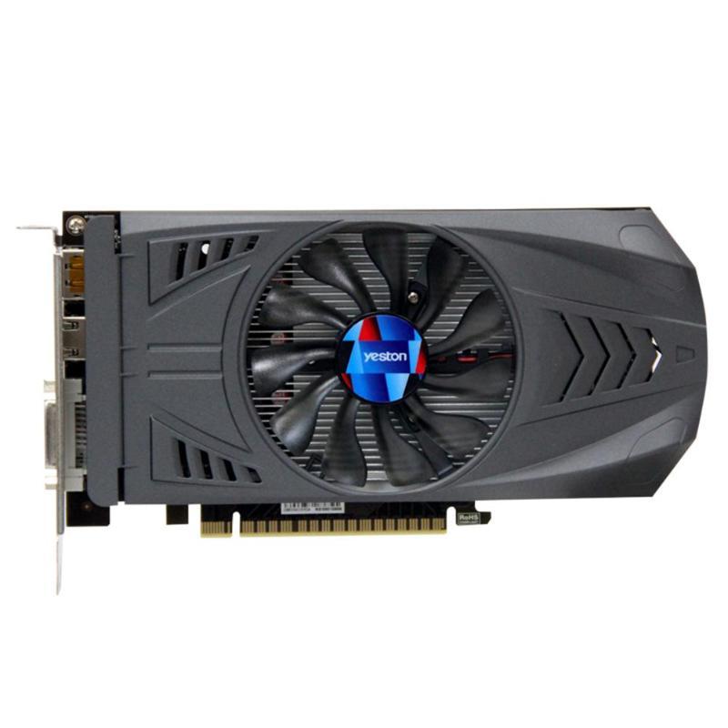 Yeston pour Nvidia Geforce GTX 1050 carte graphique de jeu vidéo 2G GDDR5 128bit PCI-E 3.0 GTX 1050 HDMI DVI ordinateur GPU pour jeu