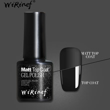 WiRinef Matte Top Prego Primer Base de Gel Para Manicure Nail Art Semi-permanente 8 Topo Uv LEVOU Polonês Gel ml(China)