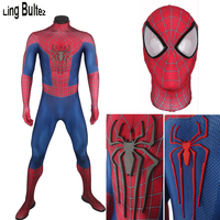 Ling Bultez High Quality New Muscle Shade Amazing Spider man Costume For Halloween Fullbody Spider man Cosplay Costume