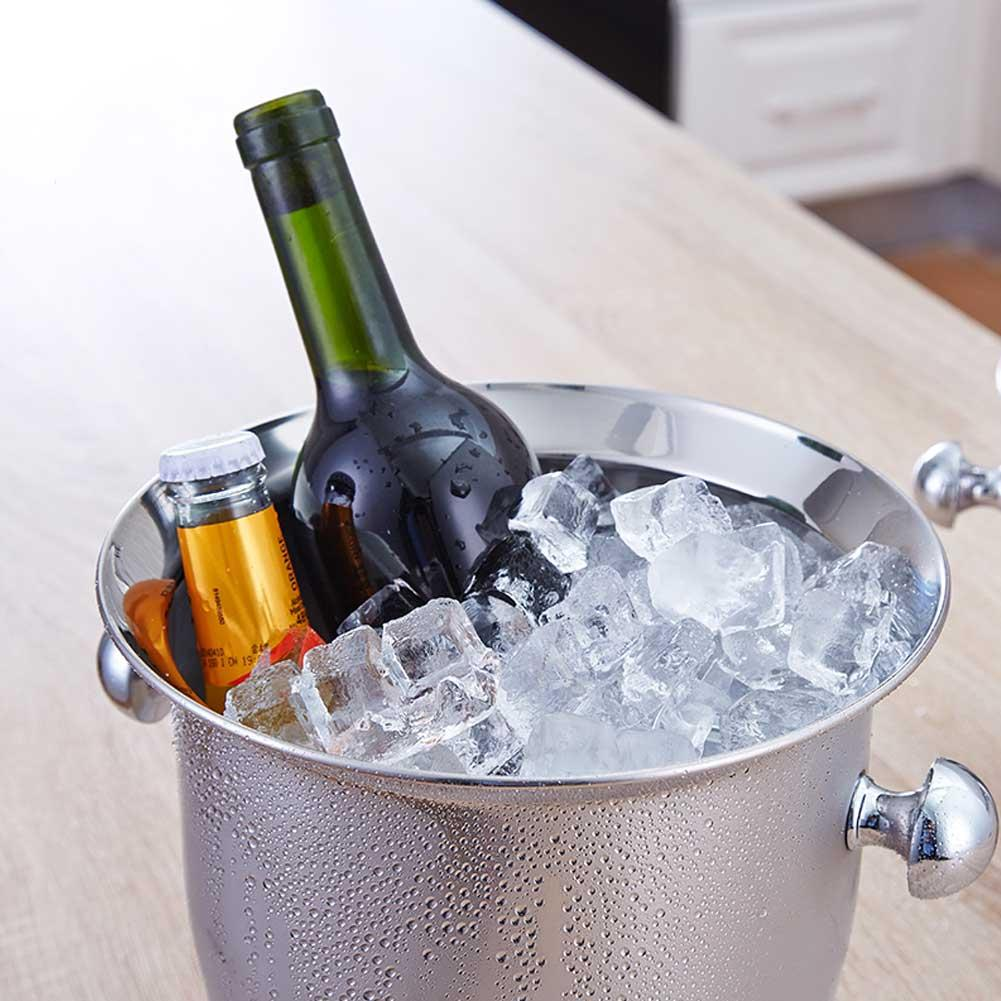 Stainless Steel Thickened Ice Bucket Wine Cool Champagne