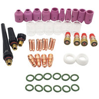 Argon arc welding 49pcs For WP 17/18/26 Welding Torch Stubby Gas Lens #10 Glass Cup Kit Durable Practical Welding Accessories