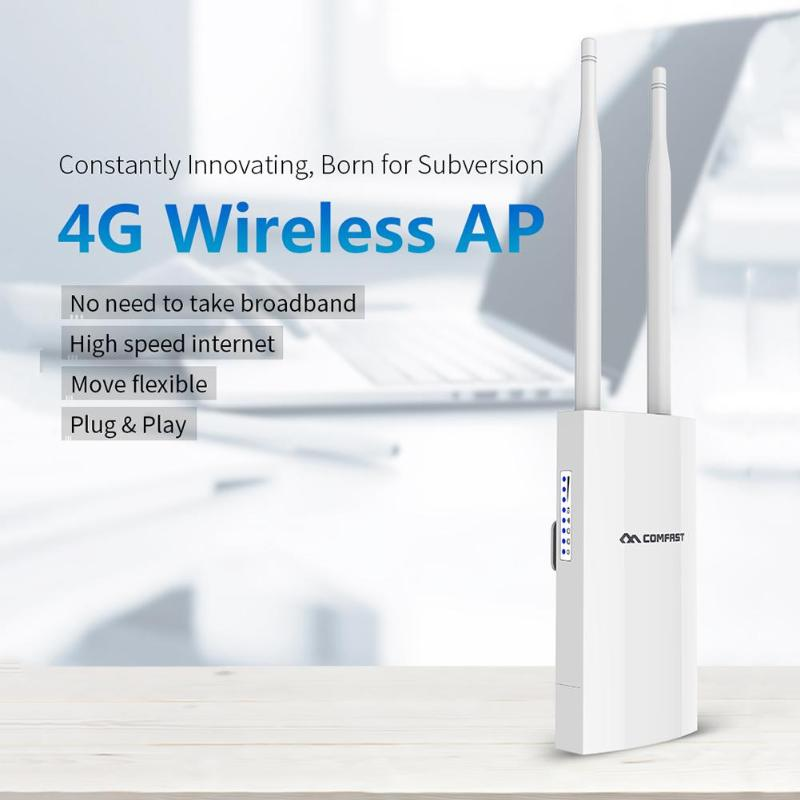 Comfast CF-E5 Haute Vitesse En Plein Air 2.4g LTE Sans Fil AP Wifi Routeur plug and play 4g SIM carte Portable sans fil Routeur WiFi Routeur