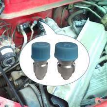 6 R134a peças/lote Car Universal Porta de Serviço Do Lado de Alta e Baixa Com Cap Núcleo Da Válvula JRA Uso Para O Carro A/ C Ar Condicionado Gasoduto