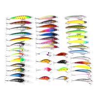 ab83026ad 43pcs Minnow Fly Fishing Lure Set Artificial Hard Bait Wobbler Crankbait