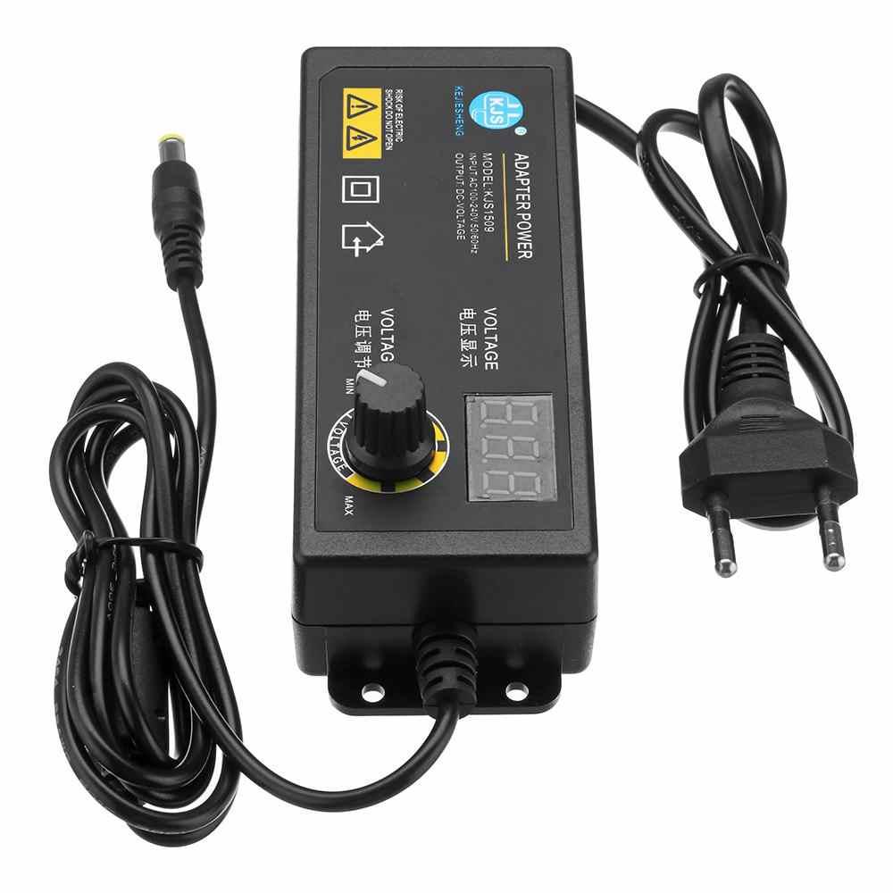 KJS-1509 3-24 V 2.5A 電源アダプタ可変電圧アダプタ Led ディスプレイスイッチング電源 EU/米国のプラグイン