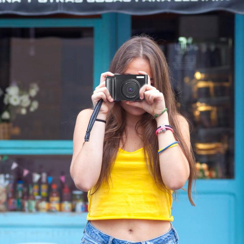Профессиональная цифровая камера 3,0 дюйма lcd 24 миллионов HD Цифровая видеокамера с откидной крышкой камера 16X зум Камера Sup wifi 128G SD - 4