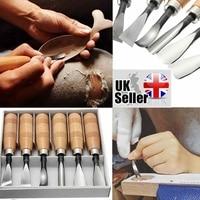 Wood Carving Hand Chisels Tools 6pcs Set Detailed Carpenters Woodworking Hand Tools Professional Lathe Gouges Basic Wood Cut