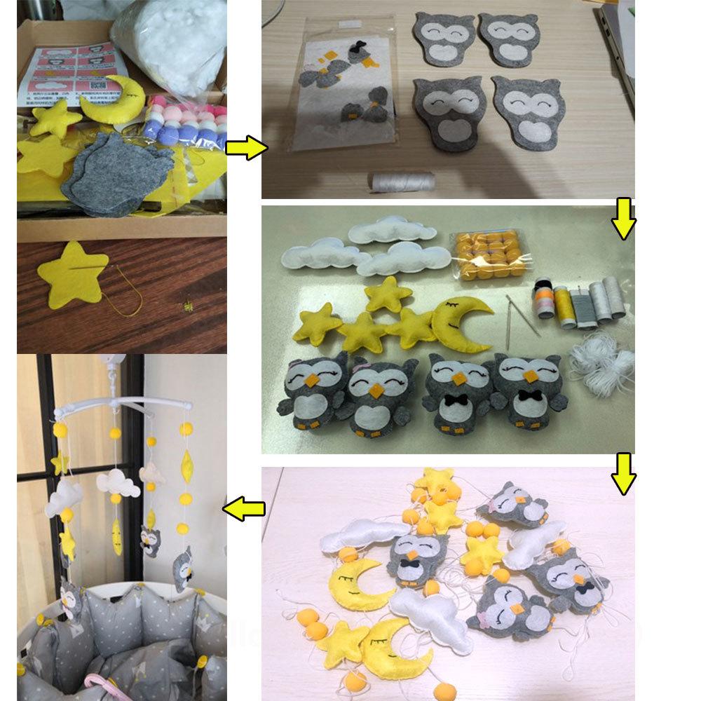 Baby Crib Holder Rattles Bracket Clockwork Music Box Diy Bed Bell Material Package Toy Pregnant Mom