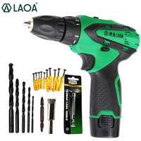 12V Li Ion Battery industrial Electric Drill Speed Change / LED Light / Adjustable Clamp Electric Drill Mini Drill