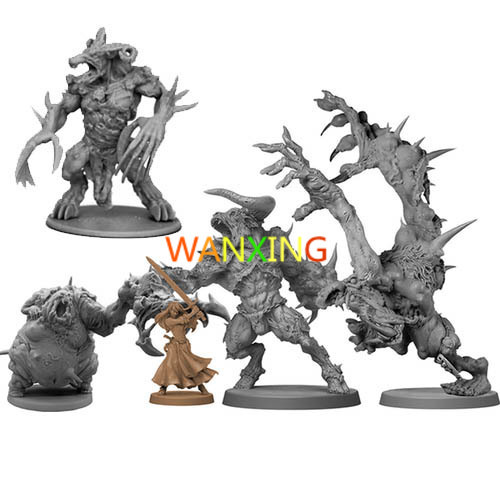 1/18 Scale Model Zombicide Games Endless Slaughter Black Plague Abomination Black Death Knight Boss Toys For Children