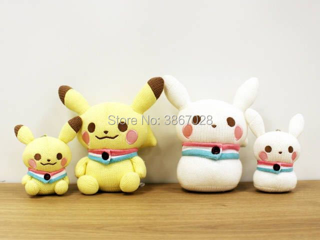 Pikachu Christmas Ornament.Us 14 39 10 Off New Authentic Amigurumi Pikachu Plush Doll Knit Snowman Christmas Ornament Gift 20cm Keychain In Movies Tv From Toys Hobbies On