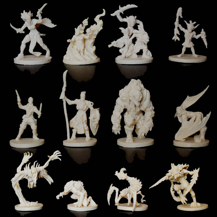1/72 Scale Models Dragons And Dungeons DND Board Role-playing Games Piece Resin Model Descent Thorough The Jedi Contain Extend