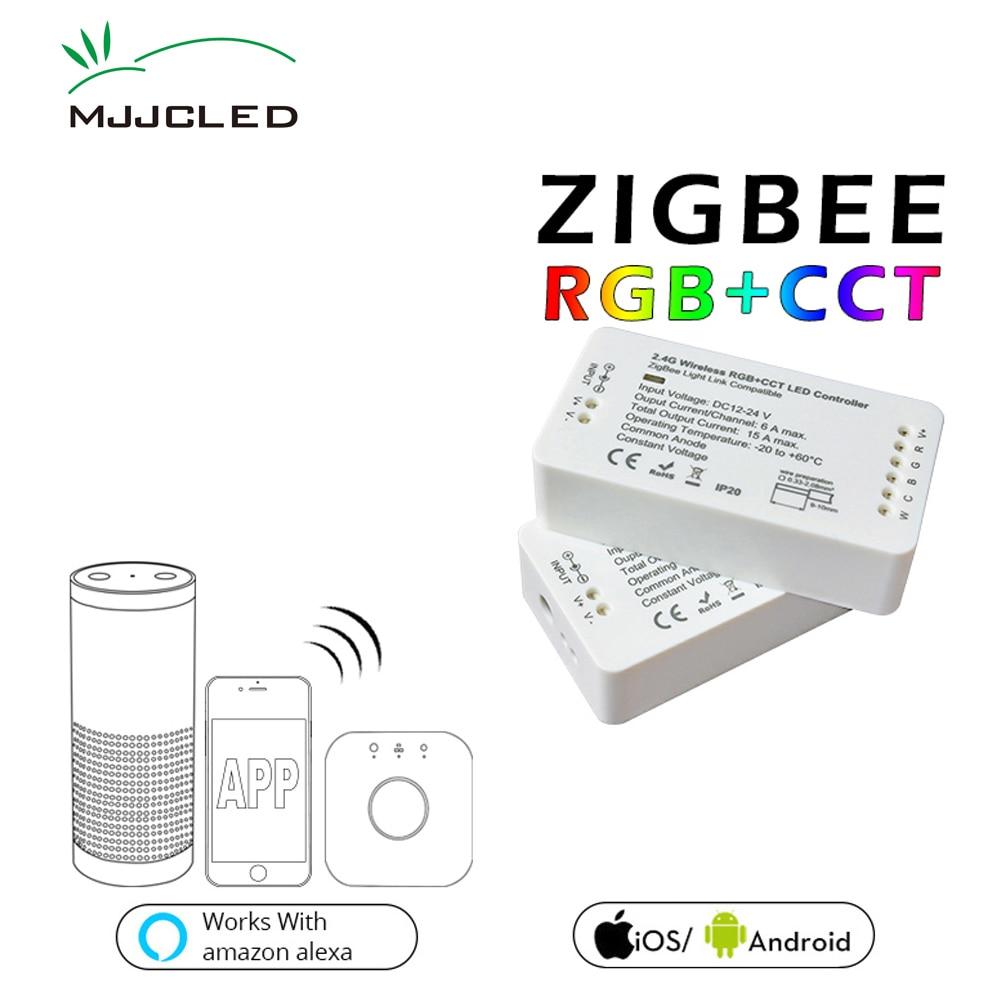 ZIGBEE LED Controller RGB CCT WW CW Zigbee Controller LED DC 12V 24V LED Strip Controller ZLL App Controller RGBW RGB zigbee led controller rgb cct ww cw zigbee controller led dc12v 24v led strip controller zll app controller rgbw smart home rgb