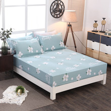 100% cotton Fitted Sheet On Elastic Band Mattress Cover Printed Bed Sheet Mattress Cover 120x200cm/150x200cm/180x300cm(China)