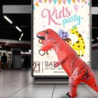 Adult T Rex Dinosaur Costume Cosplay Fantasy Inflatable Dinosaur Party DIY Costume Decorations Halloween Wedding Event Suit