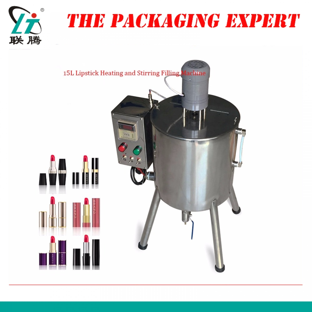 Lipstick Heating And Stirring Filling Machine Hand Soap Filler With Mixing Hopper Heater Tank Hot Chocolates Fill Free Shipping