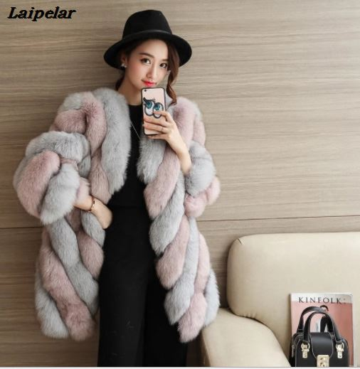 High Quality Fur Vest Coat Luxury Faux Fox Warm Women Coats Vest Winter Fashion Fur Women