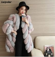 High Quality Fur Vest Coat Luxury Faux Fox Warm Women Coats Vest Winter Fashion Fur Women's Coat Jacket Vest 4XL Fur Coat 2017 new girls vest rabbit fur clothes imitation fox fur coat kids warm vest waistcoat baby girls winter jacket faux fur coat