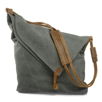 Crossbody Bag for Women, Slouch Bag, Canvas Shoulder Bag Flap Crossbody Bag for School Shopping(gray)