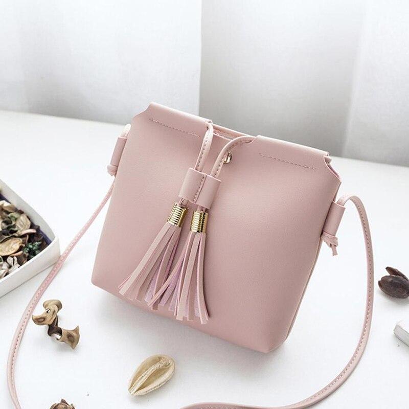Fringe Tassel Bag Small Bags For Women PU Leather Women Shoulder Messenger Bag New Mini Fringe Tassel Bag
