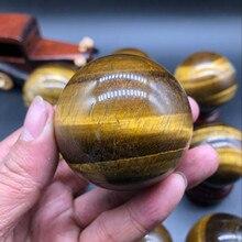 10pcs Natural tiger eye stone ball original stone ornaments fitness ball Feng Shui town house gathering wealth size ball teak house раковина stone