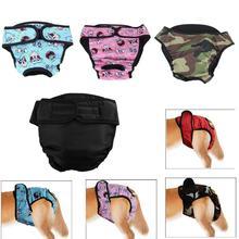 Собака физиологических штаны XS-XXL гигиеническая салфетка моющийся Женский шорты для собак трусики менструации нижнее белье трусы комбинезон для собаки