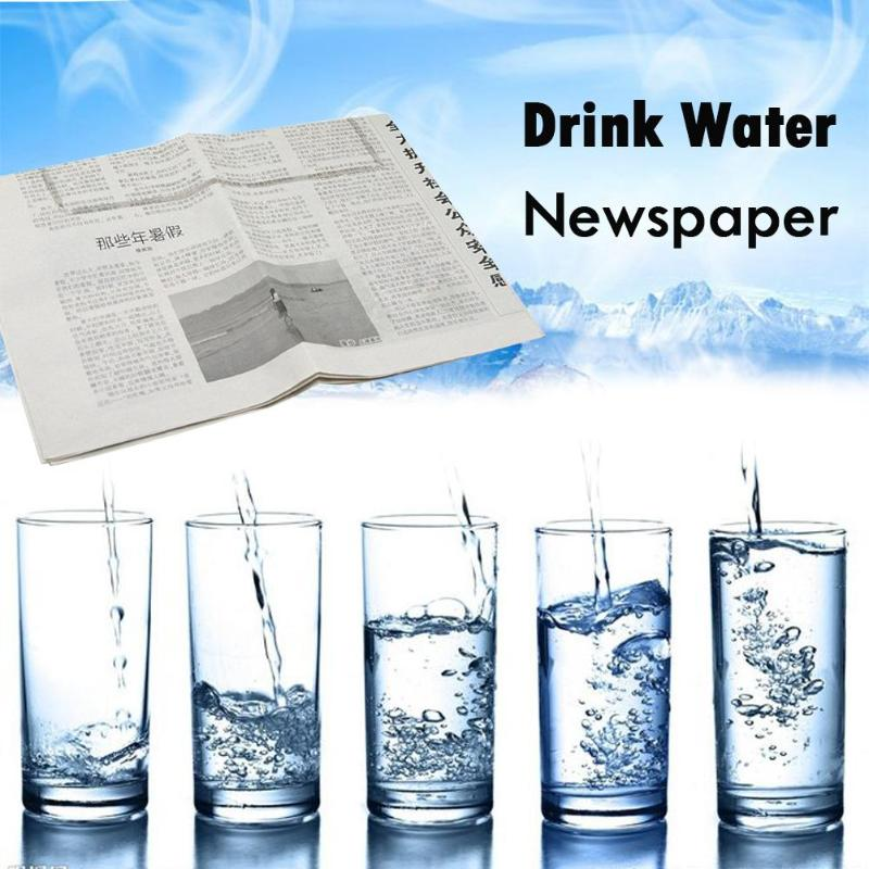Drink Water Close-Up Newspaper Stage Magic Tricks Prop Novelty Gag Toy Funny Novelty Halloween Party Classic Toys