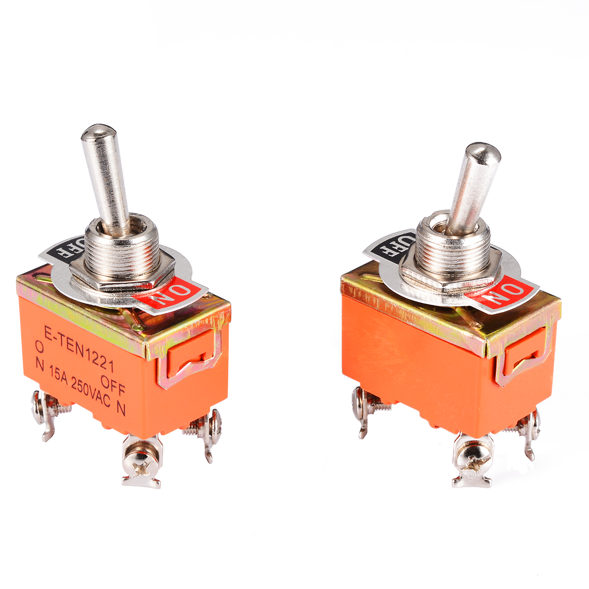 SPST ON//OFF 2 Position Toggle Switch AC 250V 15A  Practical 12mm Panel Mount