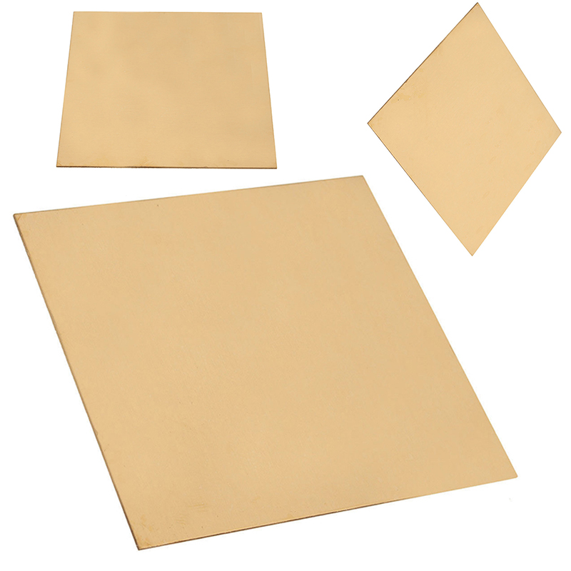 1pc 1mm Thickness Brass Sheet Plate 100x100mm Thin Metal Copper Sheet For Welding Tool Power Tool Accessories