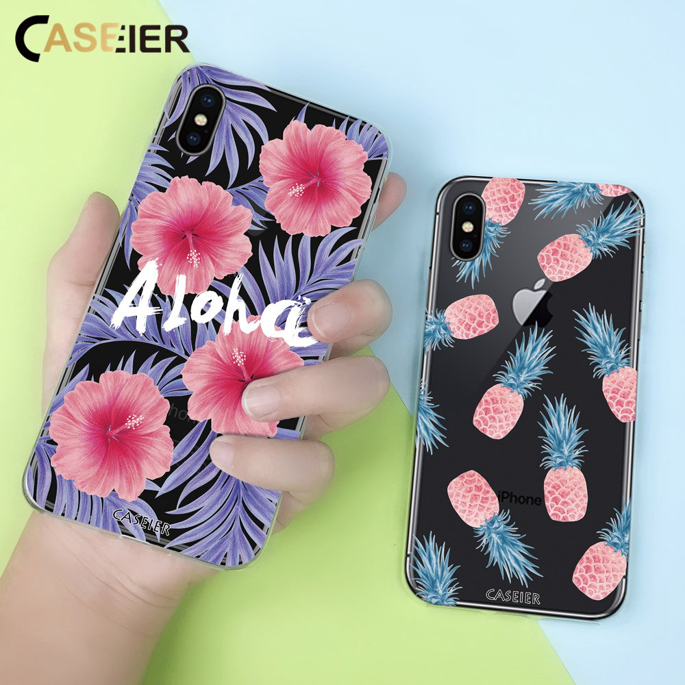 CASEIER  Cute Dog Leaves Style Case For iPhone XS MAX XR X Soft TPU Cases 5 5s SE 6 6s 7 8 Plus Funda Capinha Capas