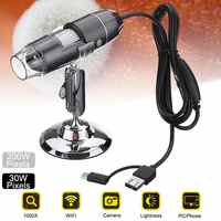 USB Digital Microscopes Camera Hdmi Electronic Microscopio 8 Led Magnifier Biologico Para Celular Stereo Endoscope Repair
