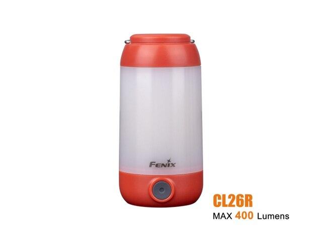 2019 novo fenix cl26r micro usb recarregável 18650 anti reflexo acampamento lanterna equipamento lâmpada max 400lm