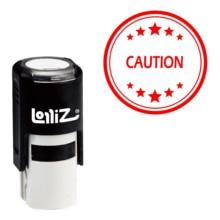 LolliZ Caution Round Office Stars One Line Self-Inking Stamp