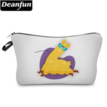 Deanfun Waterproof Fashion Glasses Llama Cosmetic Bag Durable Heart Alpaca Makeup Bag Necessaire Gift  51373 # ariva стеллаж ariva 539 marin 51373