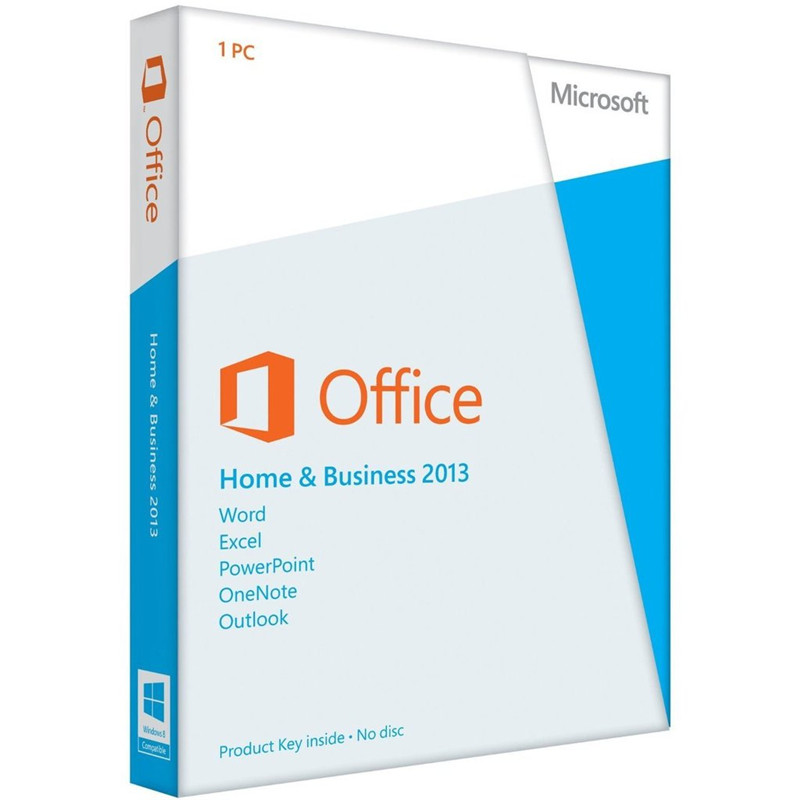 Microsoft Office 2013 Home And Business Retail Box With DVD For Windows