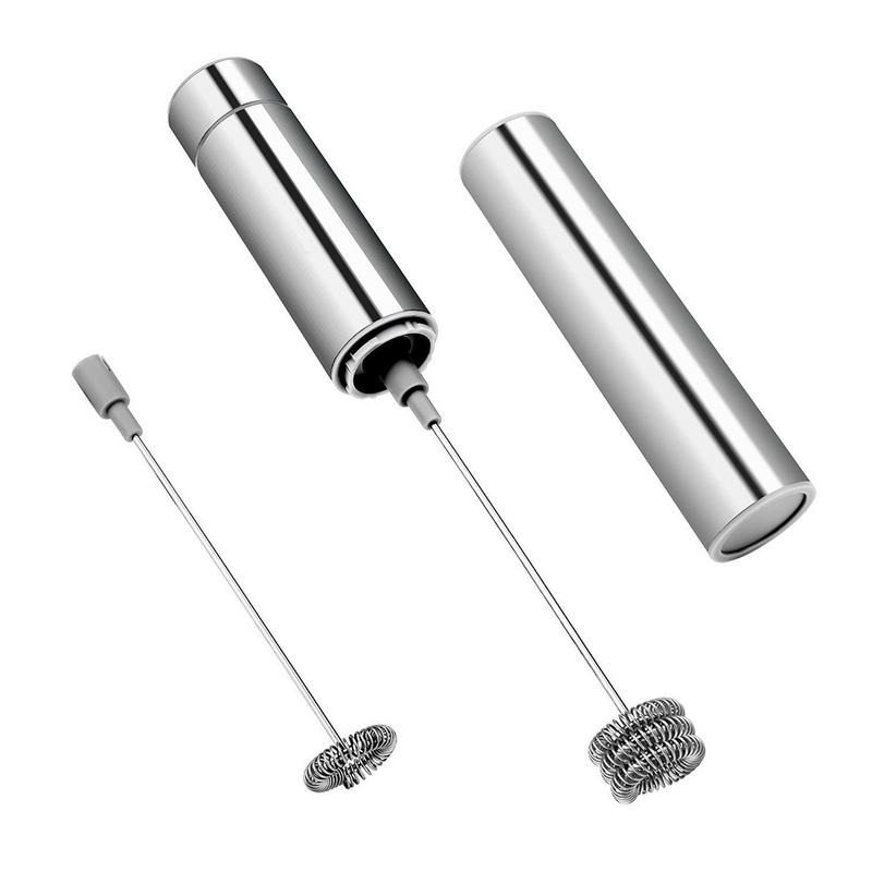 Portable Stainless Steel Frother Handheld Electric Milk Beater Frother Fancy Coffee <font><b>Egg</b></font> Vegetable Blender Agitator image