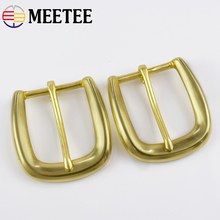 Meetee ID 35MM 1/2pcs Mens Pure Brass Belt Pin Buckle Womens Casual Pants Jean Copper Slip Hook Hardware Accessories AP665
