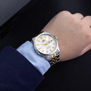 Image 5 - 100% オリジナルオリエント 3 スター腕時計ビジネス自動機械式時計ファッションメンズ腕時計 5 バー耐水性発光手