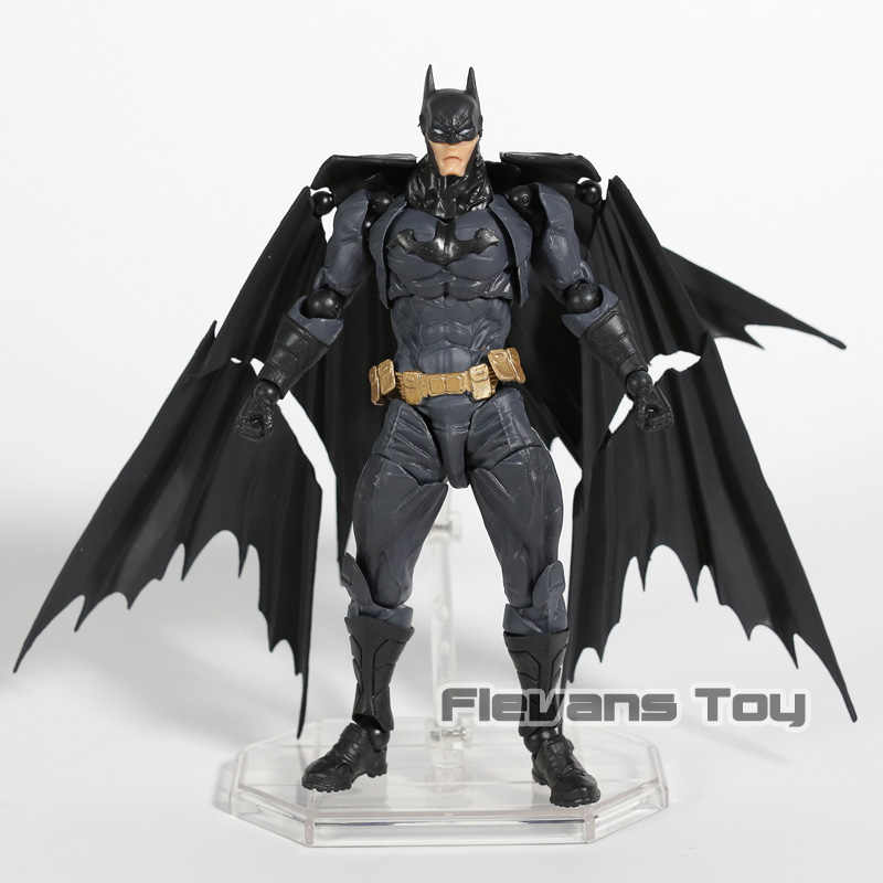 Revoltech Yamaguchi Incrível No. 009 Batman PVC Action Figure Collectible Modelo Toy